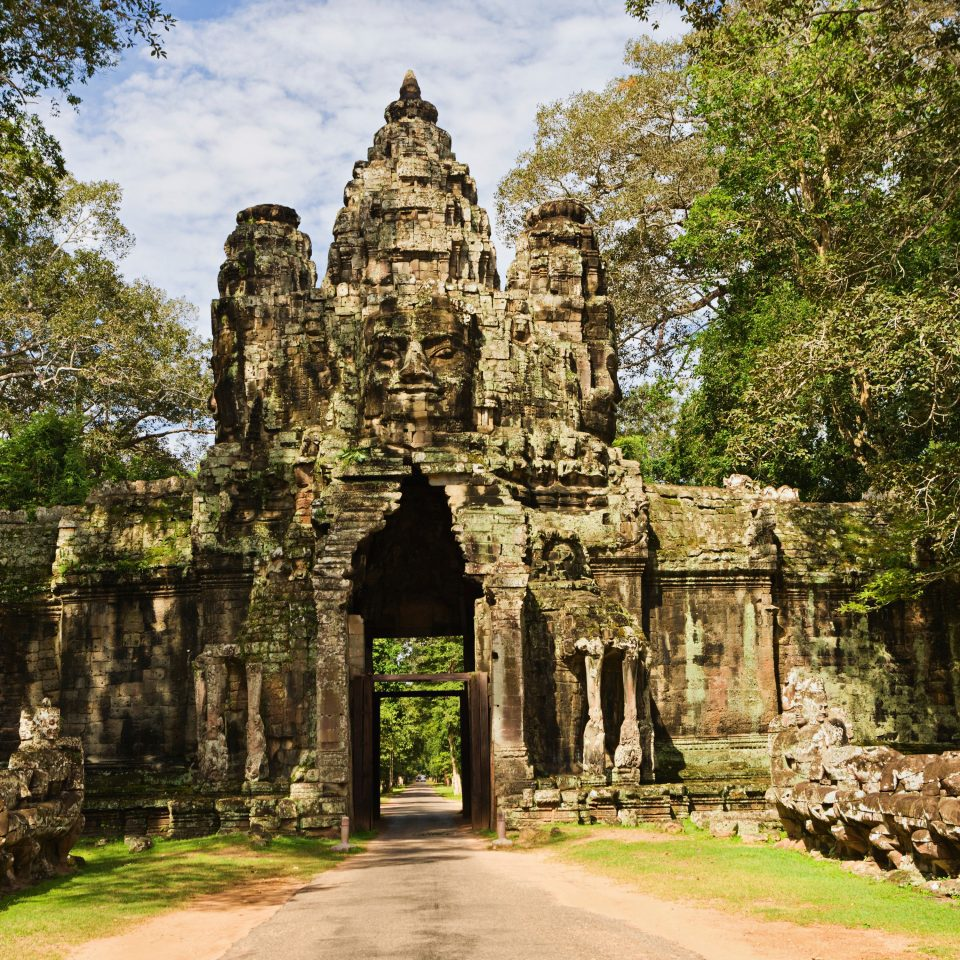 Country Historic Luxury Monuments Ruins Tropical tree historic site building place of worship archaeological site monastery wat ancient history Garden shrine hindu temple temple abbey palace château unesco world heritage site Forest surrounded wooded