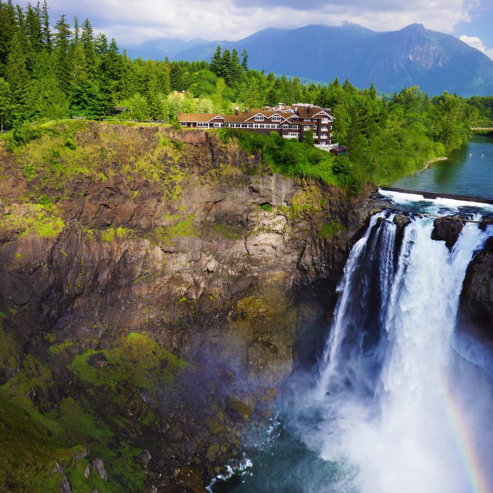 Country Hotels Lake Lakes + Rivers Mountains Nature Outdoors tree water Waterfall wilderness mountain water feature River landscape stream fjord national park autumn Forest surrounded wooded