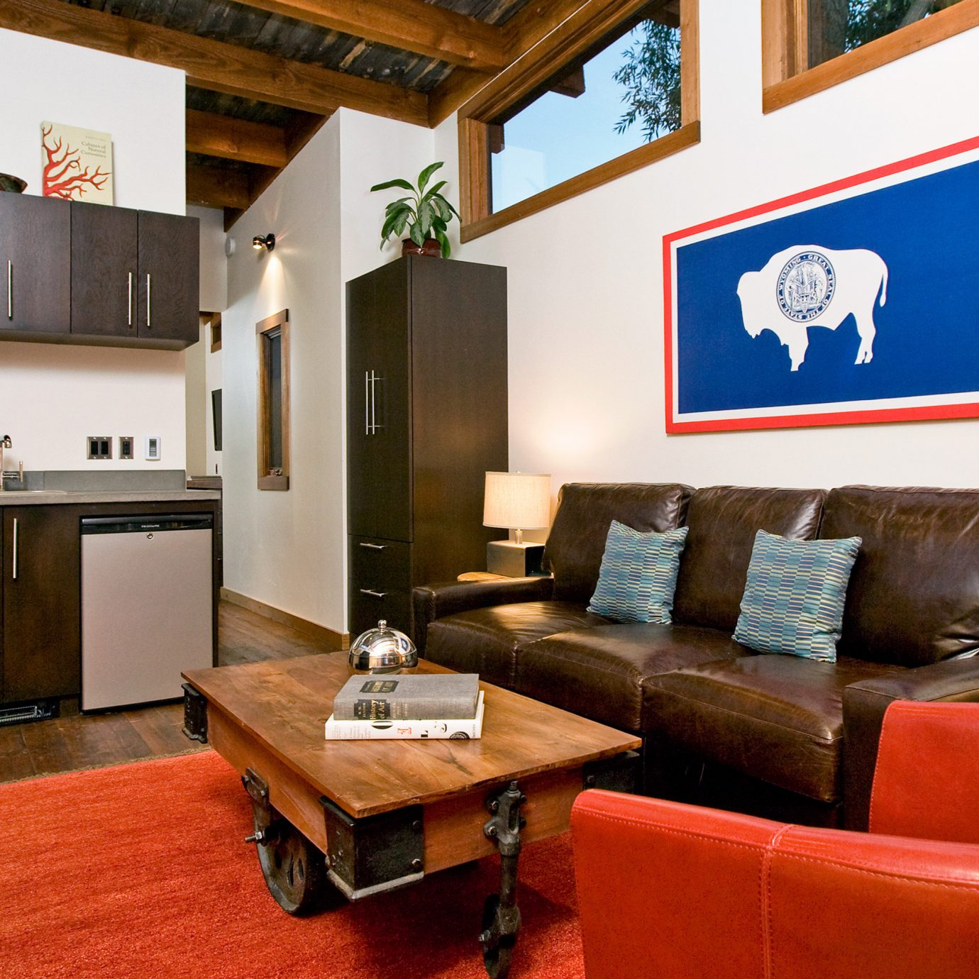 Country Glamping property living room home cottage sofa