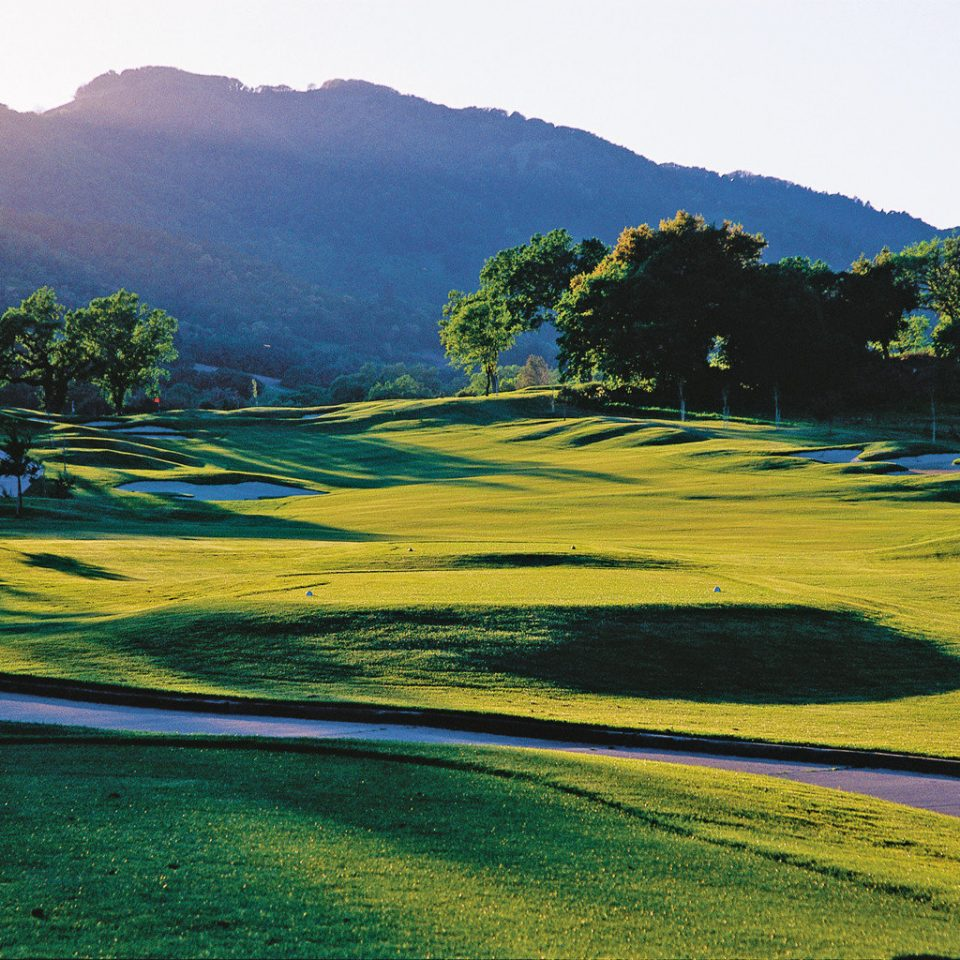 Country Golf Grounds Play Sport grass sky mountain mountainous landforms Nature green grassland tree structure hill plain horizon field sport venue morning landscape rural area meadow Lake mountain range plateau agriculture golf course flower valley plant lush hillside