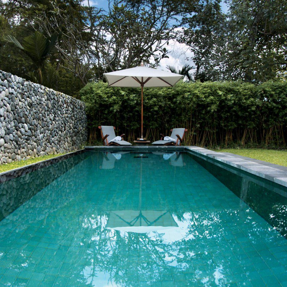 Country Jungle Pool Scenic views tree swimming pool property backyard reflecting pool Villa Resort
