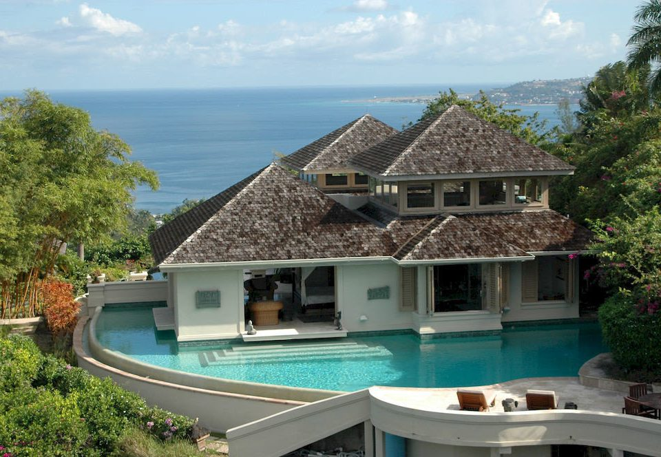 Country Luxury Pool Villa tree sky property house building swimming pool home cottage Resort mansion