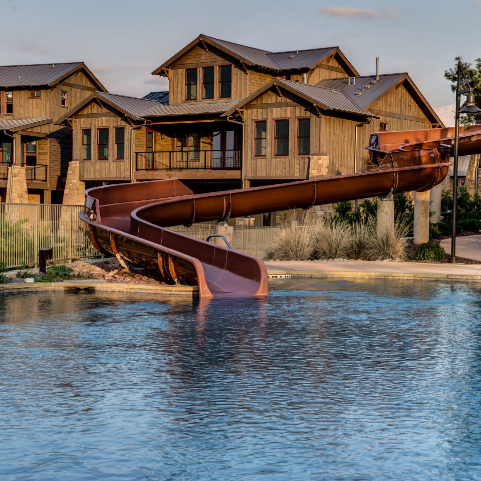 Country Luxury Pool house building water sky swimming pool Town River waterway home wooden Resort dock surrounded