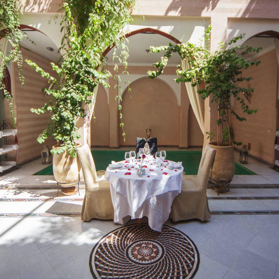 restaurant ceremony wedding aisle hacienda Courtyard