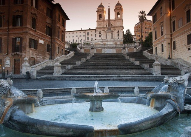 building fountain plaza thermae water feature palace Courtyard ancient rome town square stone