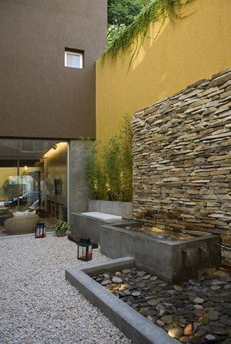 property building stone Courtyard backyard