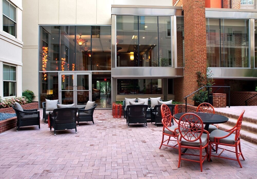 building ground chair property home brick condominium outdoor structure Courtyard stone