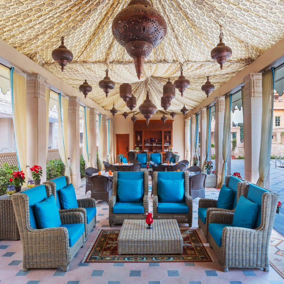 Courtyard Cultural Dining Drink Eat Lounge Outdoors property Resort Villa living room mansion home cottage palace hacienda porch colorful
