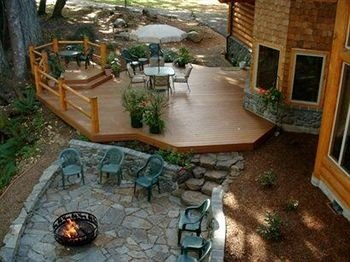 property building backyard Patio outdoor structure yard Courtyard Deck stone swimming pool porch