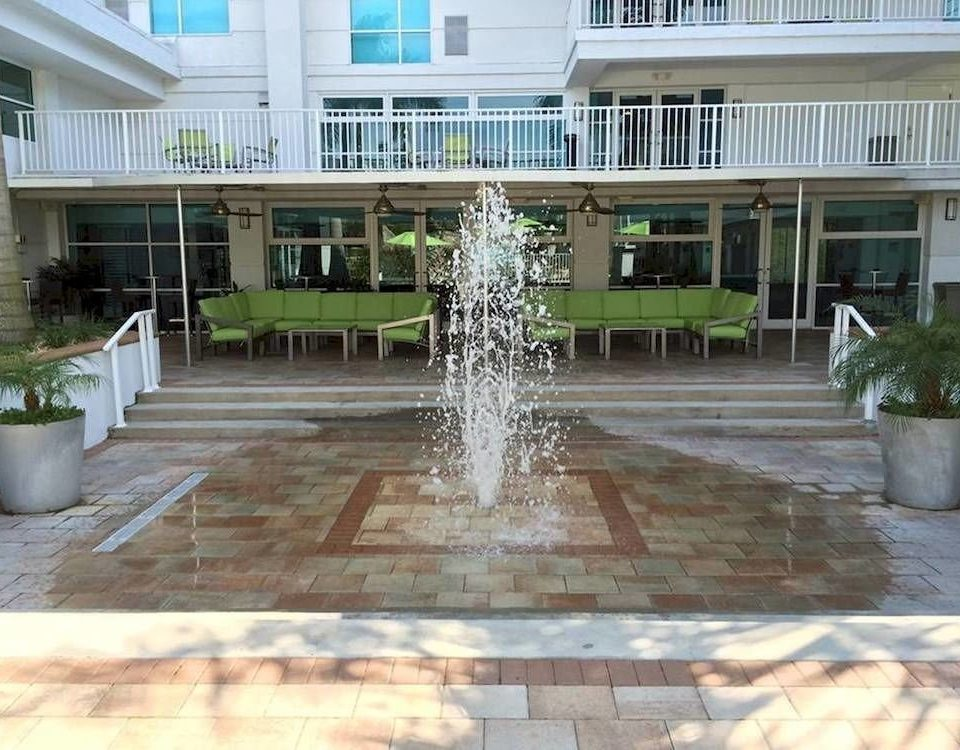 building ground property walkway condominium Courtyard reflecting pool home backyard outdoor structure Deck yard porch Patio plaza mansion Villa landscape architect flooring landscaping stone