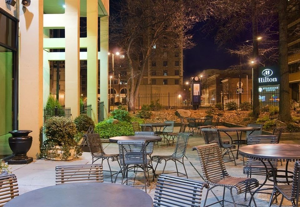 chair neighbourhood restaurant Dining Courtyard lighting home plaza outdoor structure