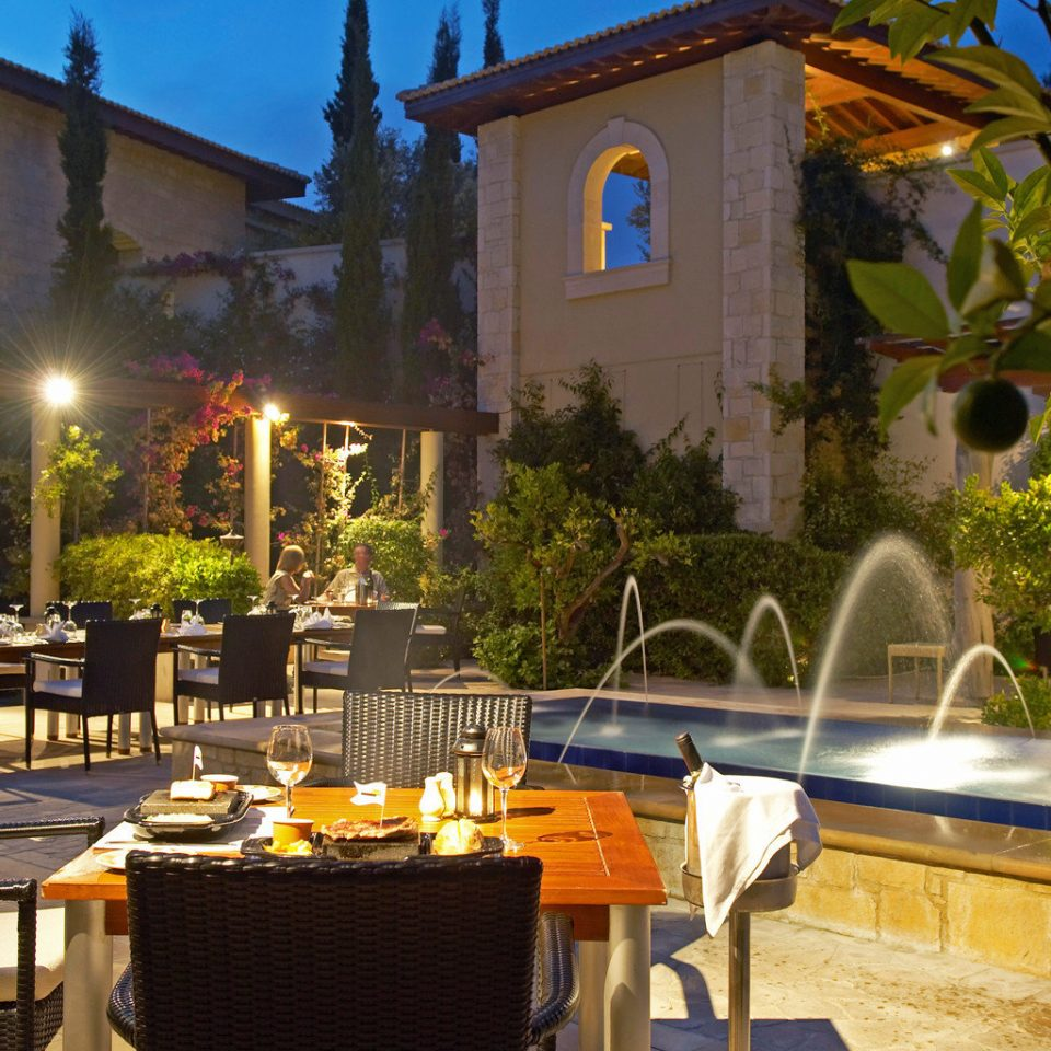 Dining Drink Eat Exterior Family Luxury Resort Wellness tree property building restaurant hacienda Villa home backyard Courtyard