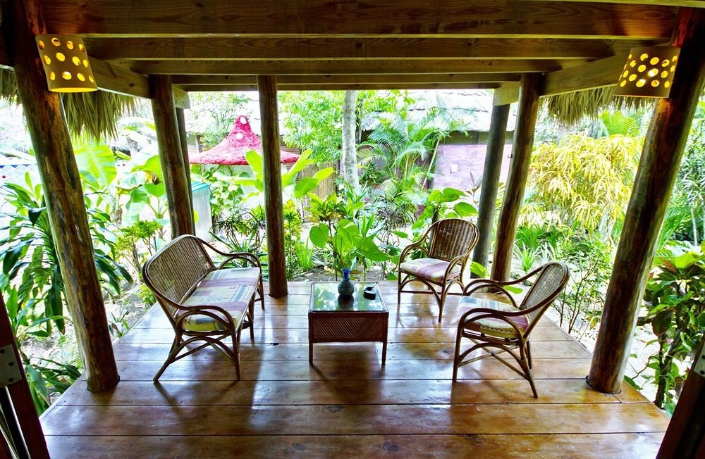 Lounge Luxury Romantic Tropical house porch Dining home Resort outdoor structure backyard cottage Courtyard Villa dining table