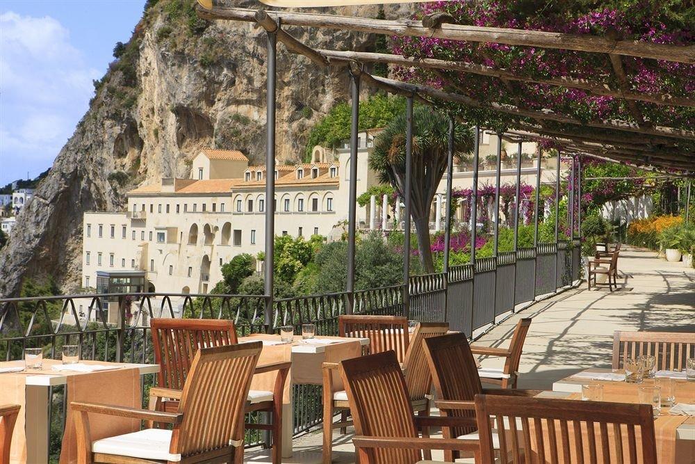 chair wooden Resort restaurant Dining Courtyard outdoor structure set