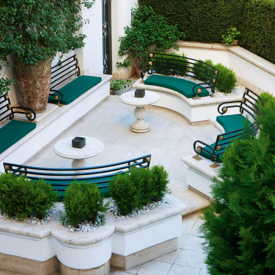 Elegant Lounge Terrace tree swimming pool backyard yard Garden plant Courtyard grass lawn landscape architect reflecting pool home outdoor structure walkway landscaping mansion garden designer flooring Patio bushes stone