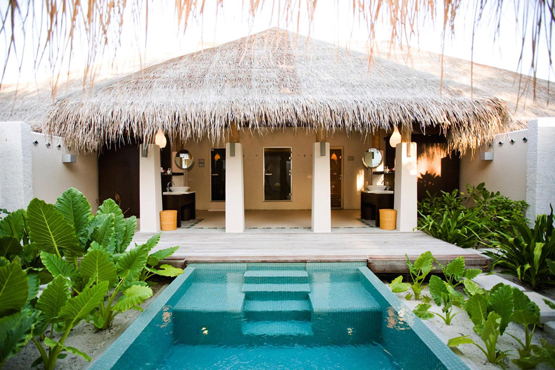 Elegant Luxury Modern Pool Villa swimming pool property Resort house plant backyard home cottage mansion outdoor structure Courtyard hacienda Garden