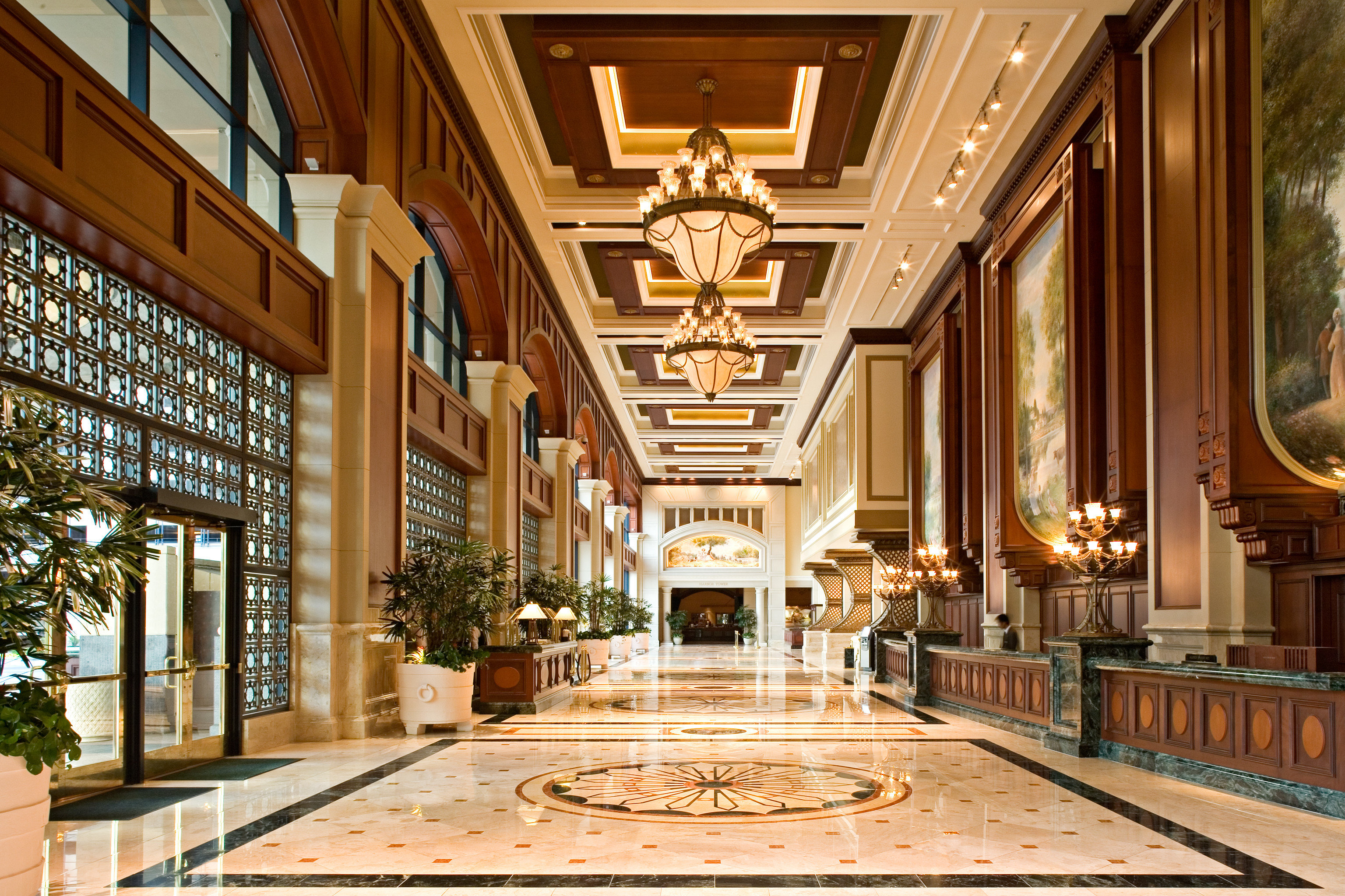 Elegant Lobby building palace mansion plaza ballroom place of worship chapel Courtyard synagogue colonnade