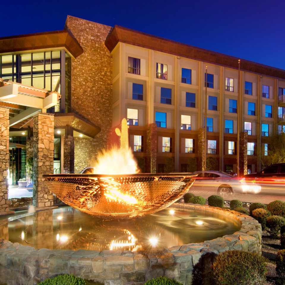 Exterior Firepit Resort sky plaza building landmark condominium water feature fountain palace Courtyard colonnade