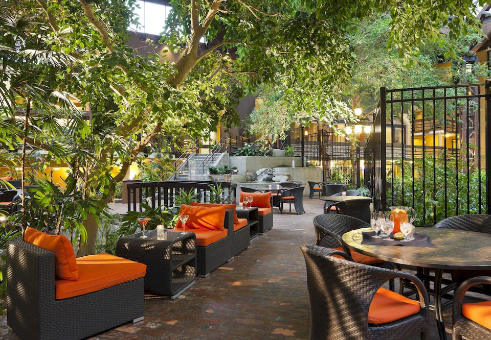 Family Patio tree property orange Courtyard restaurant backyard outdoor structure Resort cottage yard