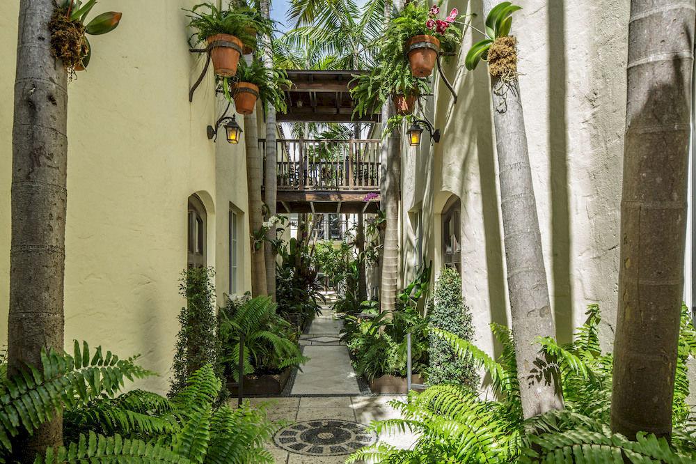 plant building flower Garden botany Courtyard arecales pot mansion court porch stone bushes colonnade