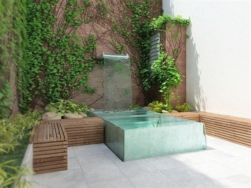 property green swimming pool backyard plant Courtyard outdoor structure landscape architect yard Garden stone
