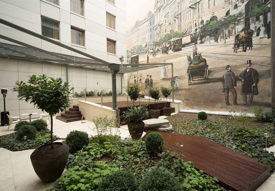 property Courtyard neighbourhood plaza residential area home condominium yard Garden landscape architect stone colonnade