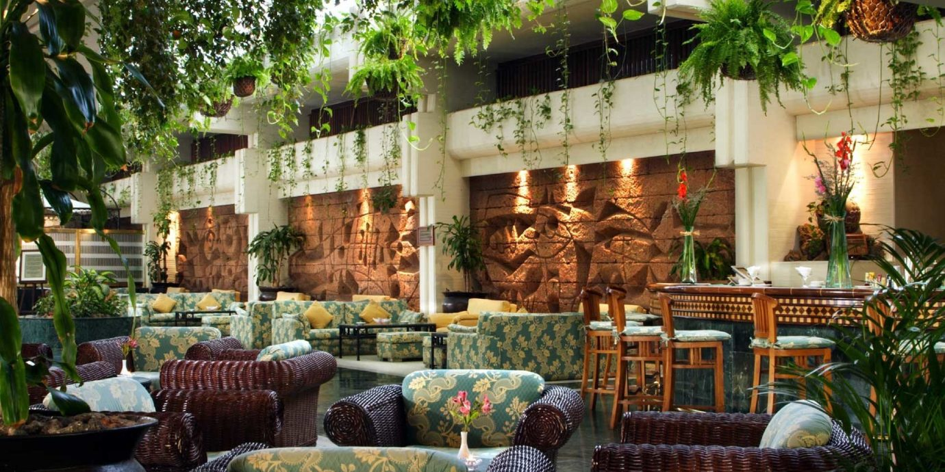 Hip Lobby Lounge Modern Tropical floristry Resort home Courtyard backyard Garden outdoor structure