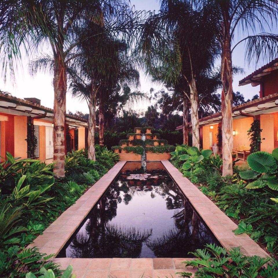 Hot tub/Jacuzzi Lounge Luxury Modern Pool Trip Ideas tree sky house property Resort home arecales hacienda palm Villa Courtyard Garden Village plant bushes surrounded