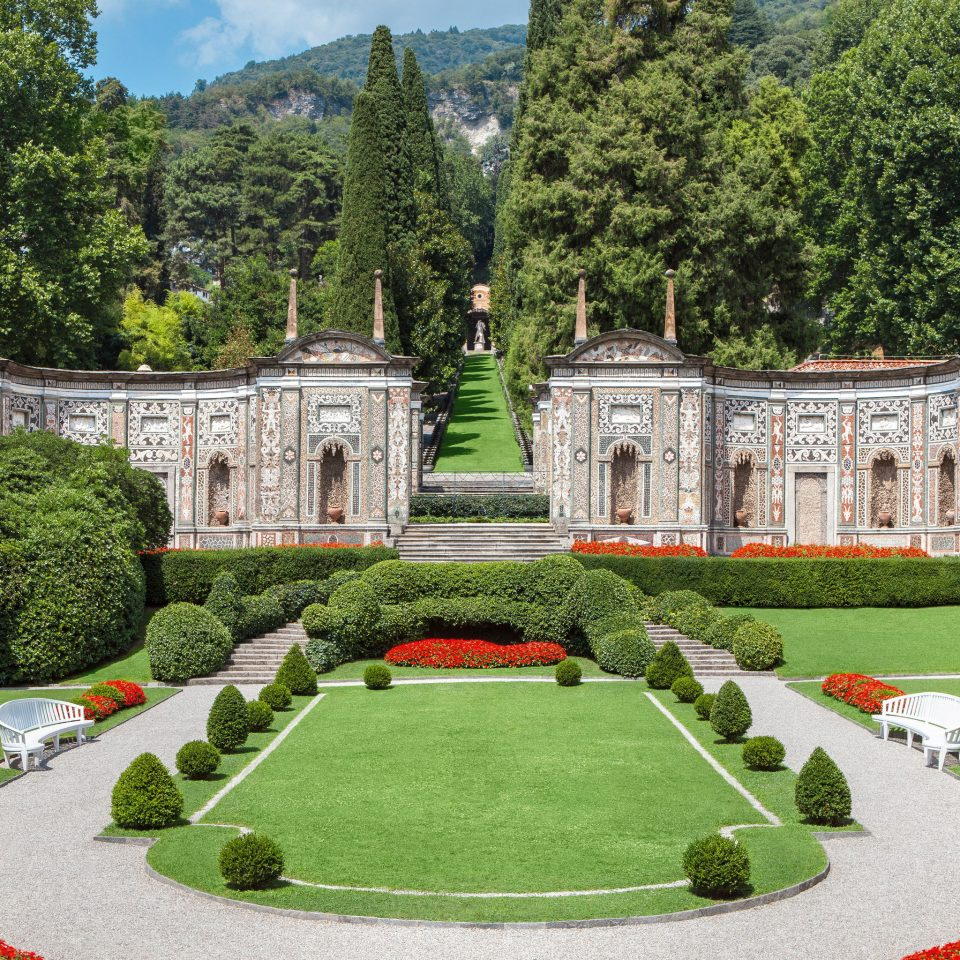 Hotels Luxury Travel tree grass structure stately home château Garden palace lawn mansion park landscape architect Courtyard castle botanical garden monastery manor house old surrounded lush colonnade