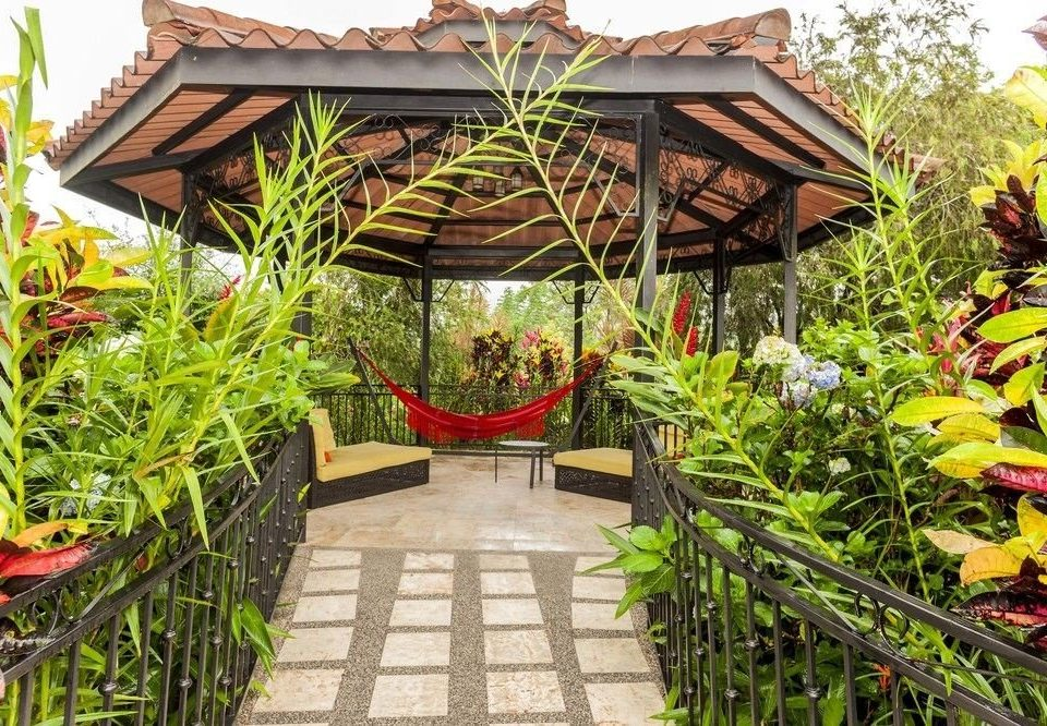 plant building Resort Garden green flower outdoor structure Courtyard house backyard greenhouse cottage yard Jungle bushes fresh