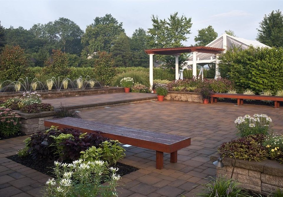 Garden Nature Outdoors tree sky property building house walkway backyard Courtyard yard outdoor structure wooden home landscape landscape architect Villa Patio landscaping surrounded stone