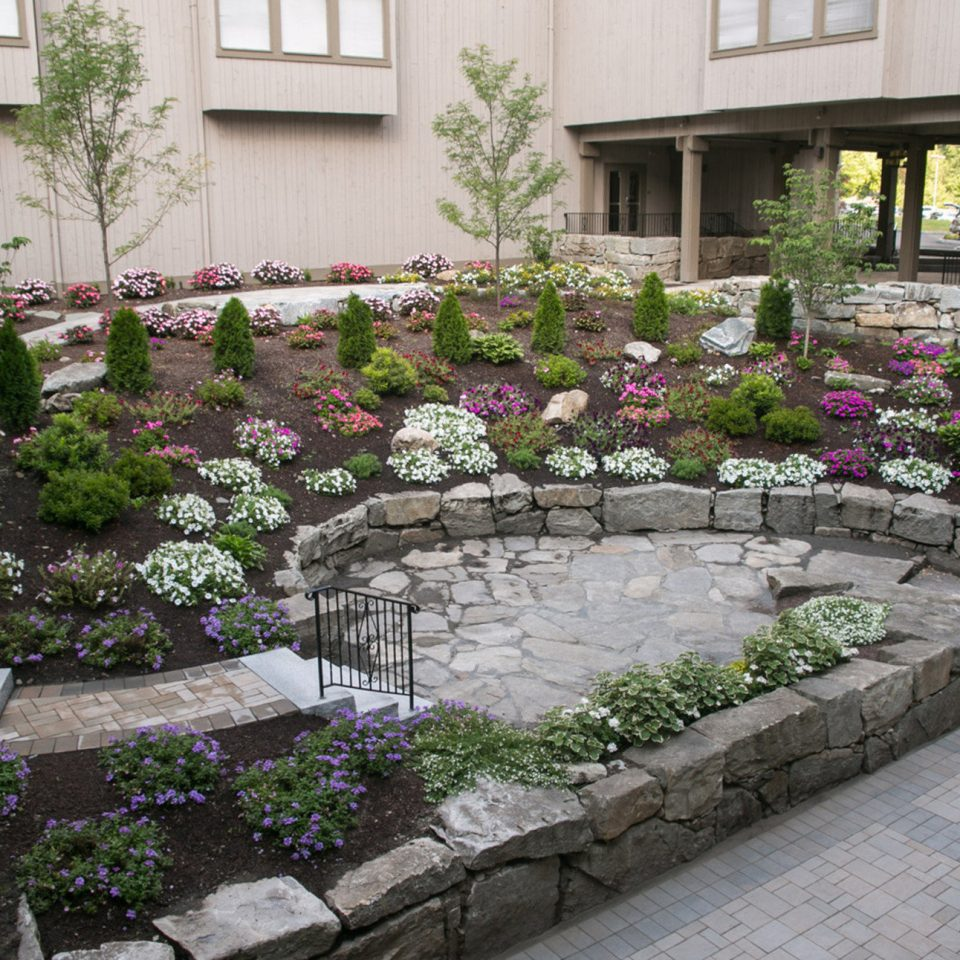building Courtyard walkway yard Garden stone flower backyard landscape architect landscape garden designer landscaping plant Patio