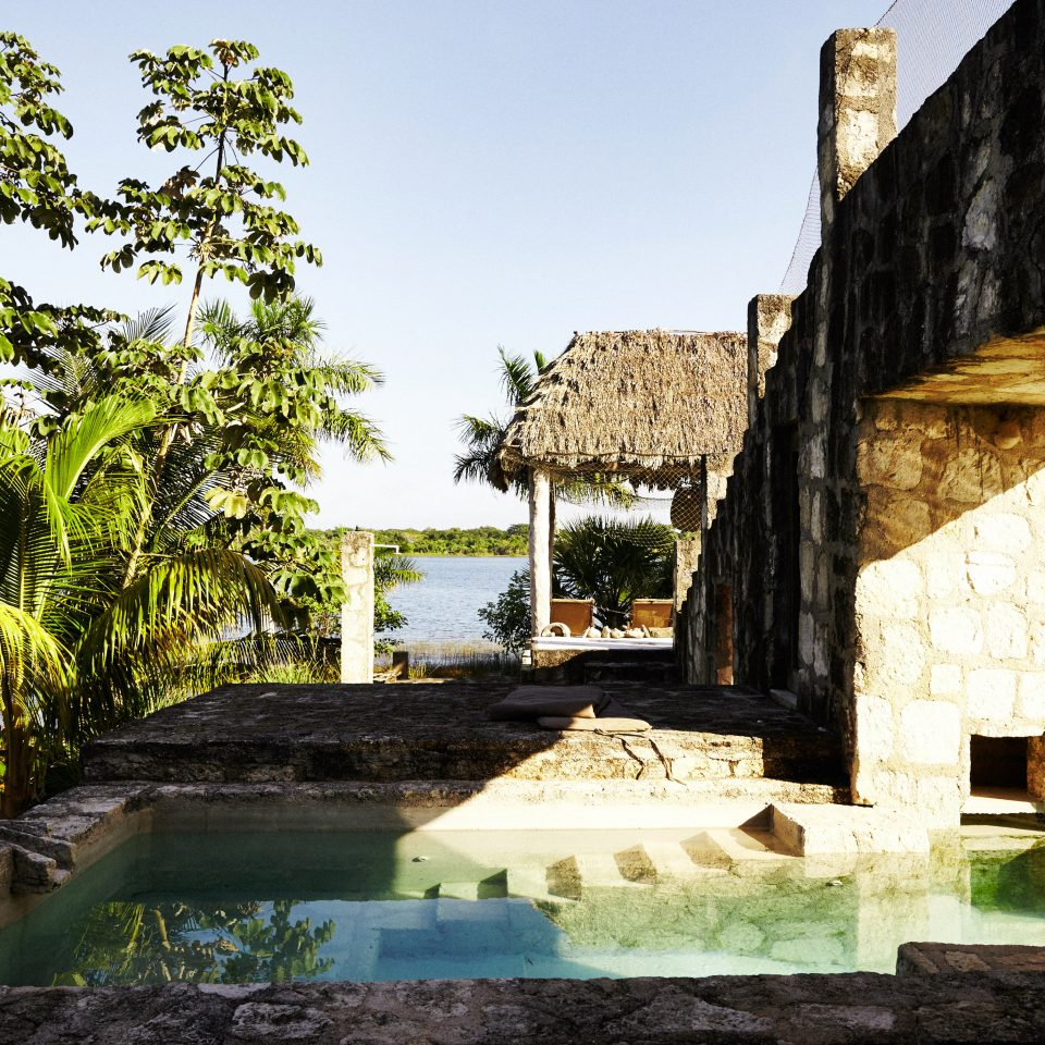 Pool Rustic Scenic views tree house home Ruins Courtyard ancient history Village stone Garden