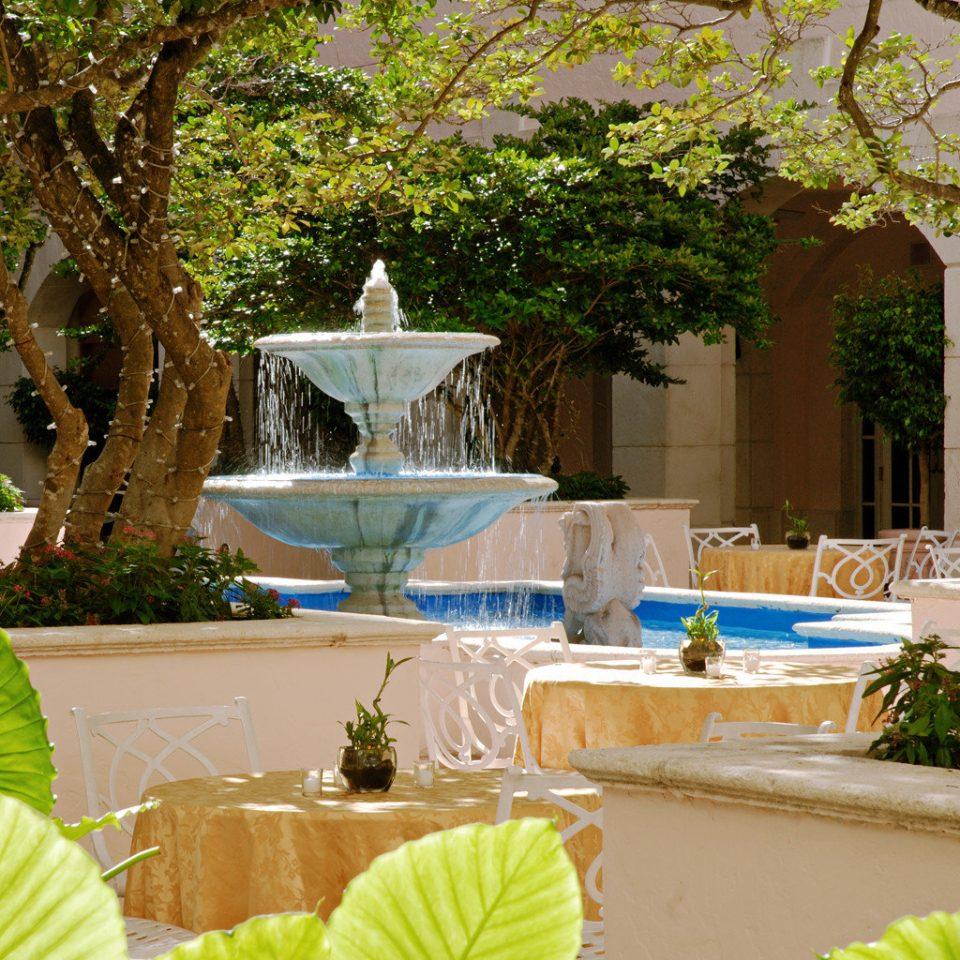 Waterfront tree backyard plant swimming pool Garden home flower yard water feature Courtyard outdoor structure Villa fountain Resort