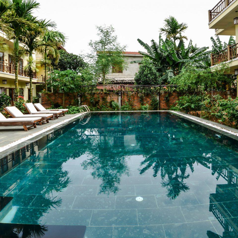building tree house swimming pool property Resort leisure condominium reflecting pool backyard Villa resort town mansion Courtyard Garden
