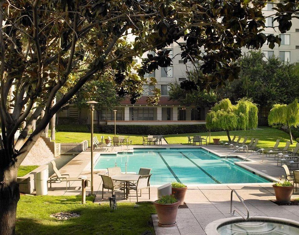 tree grass leisure property swimming pool backyard home Villa Resort Courtyard yard mansion lawn Garden
