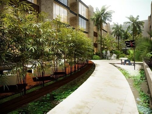tree grass property Resort walkway Courtyard arecales condominium plaza hacienda Garden waterway Village lined
