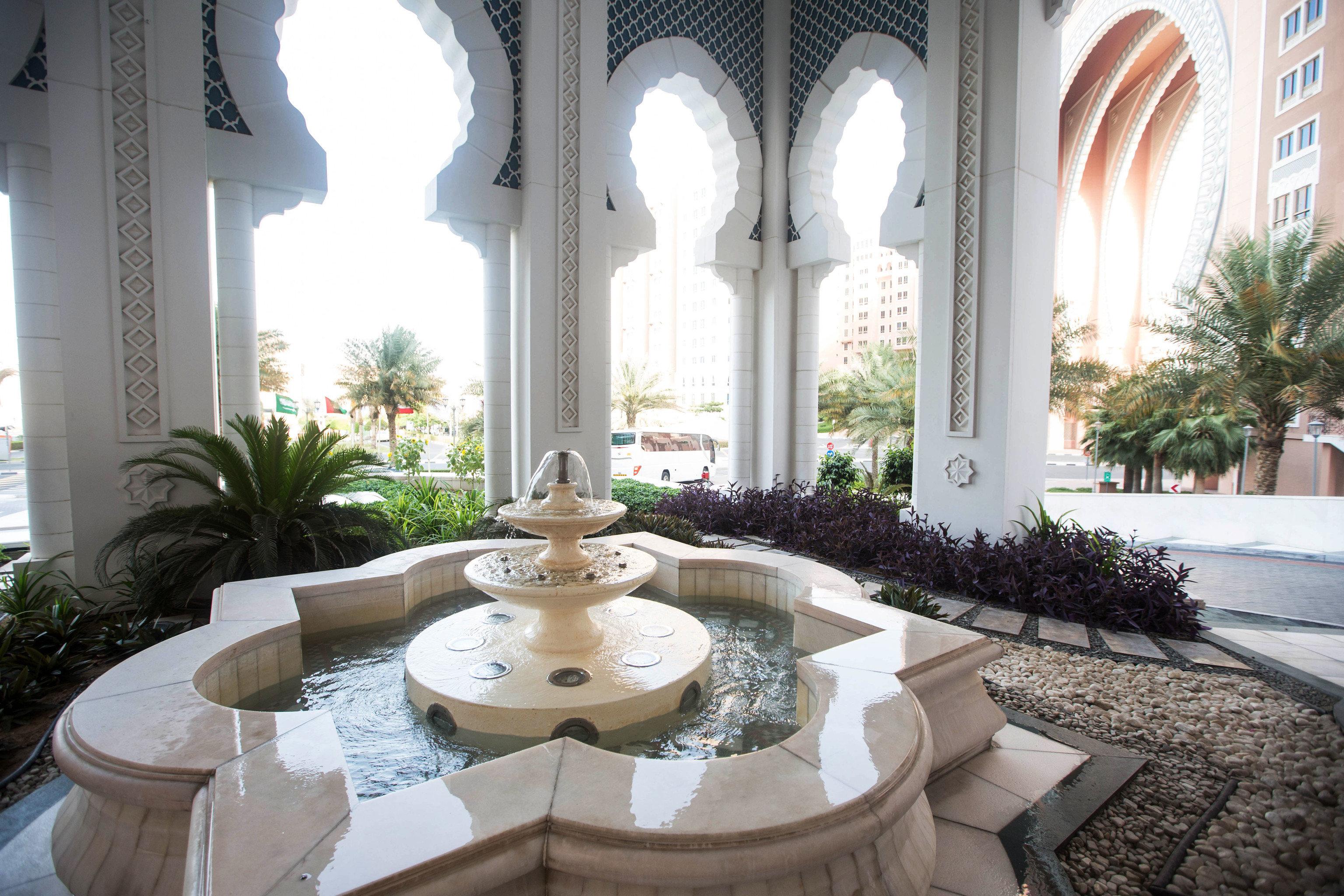 property mansion home Villa Courtyard hacienda palace living room court stone Garden arch colonnade
