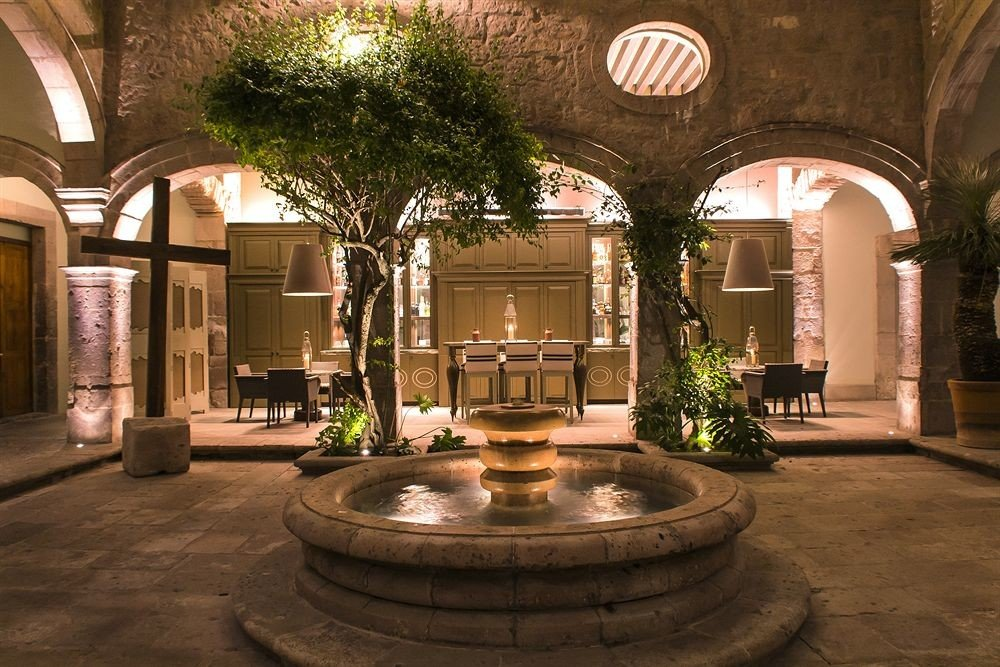 Courtyard Grounds building Lobby home lighting hacienda mansion arch