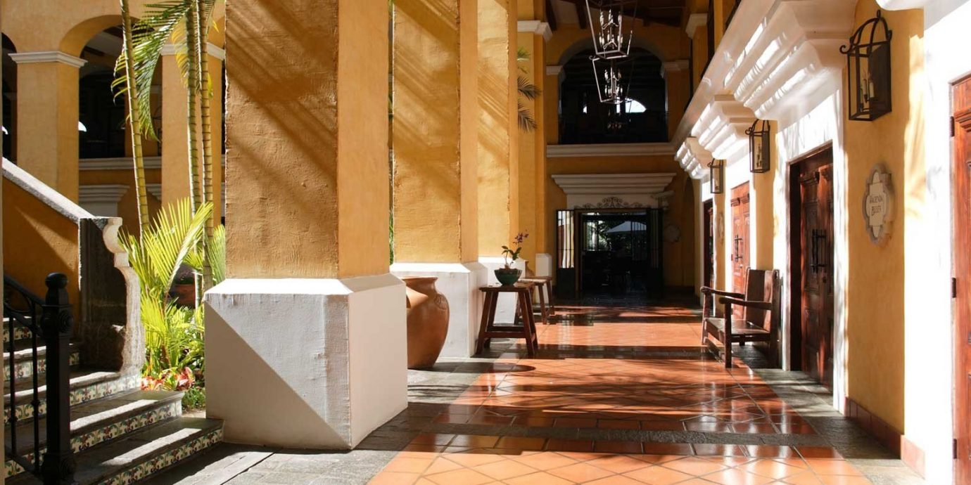 Grounds Lobby property building home mansion Courtyard flooring stone