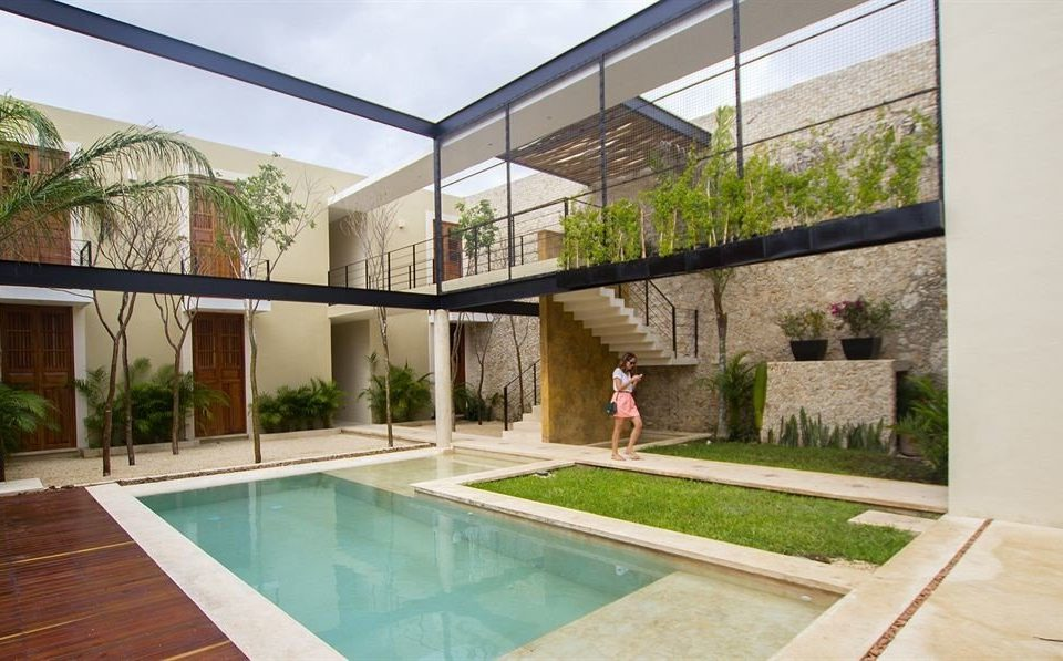 Hip Lounge Luxury property swimming pool building house Villa Courtyard home condominium backyard professional outdoor structure