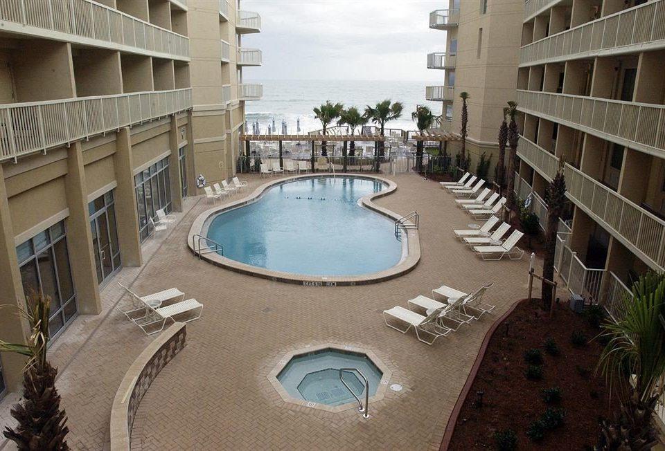 Hot tub/Jacuzzi Luxury Modern Pool swimming pool Resort condominium Courtyard plaza waterway