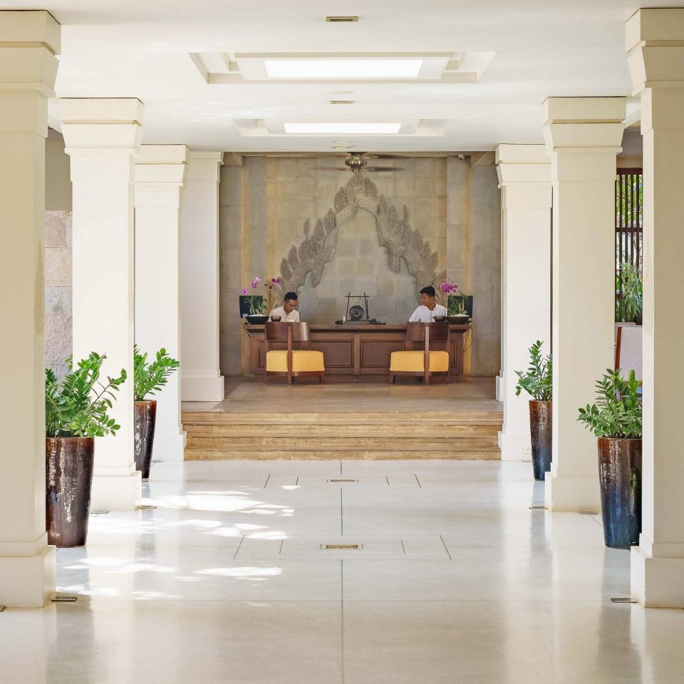 Lobby aisle home Courtyard flooring mansion hall plant