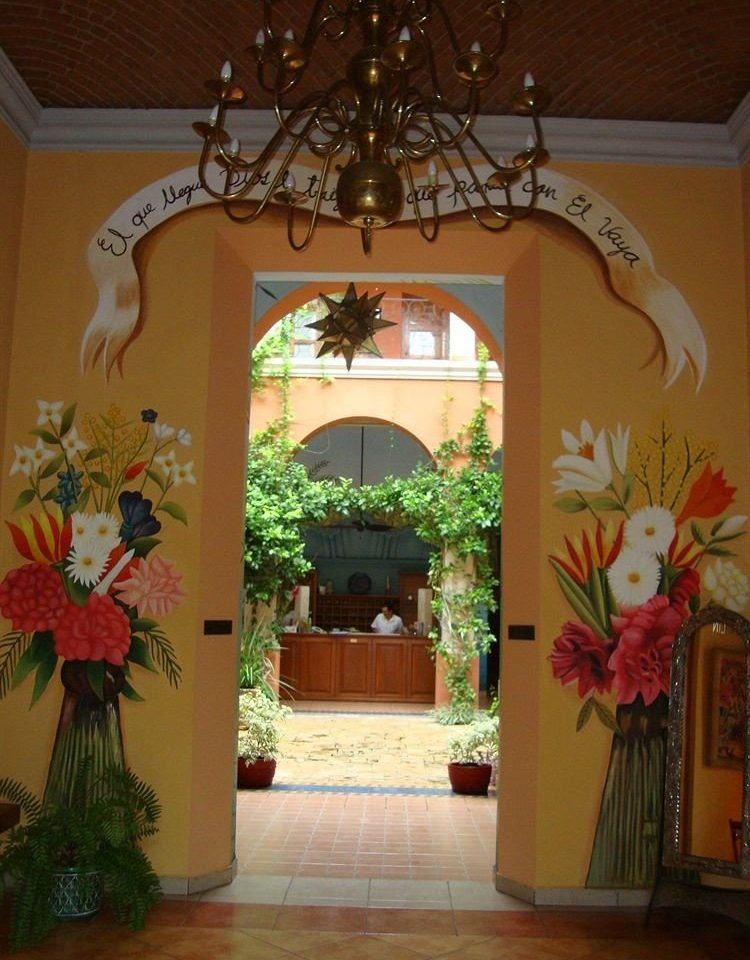 arch floristry flower plant home Lobby hacienda hall Courtyard painted
