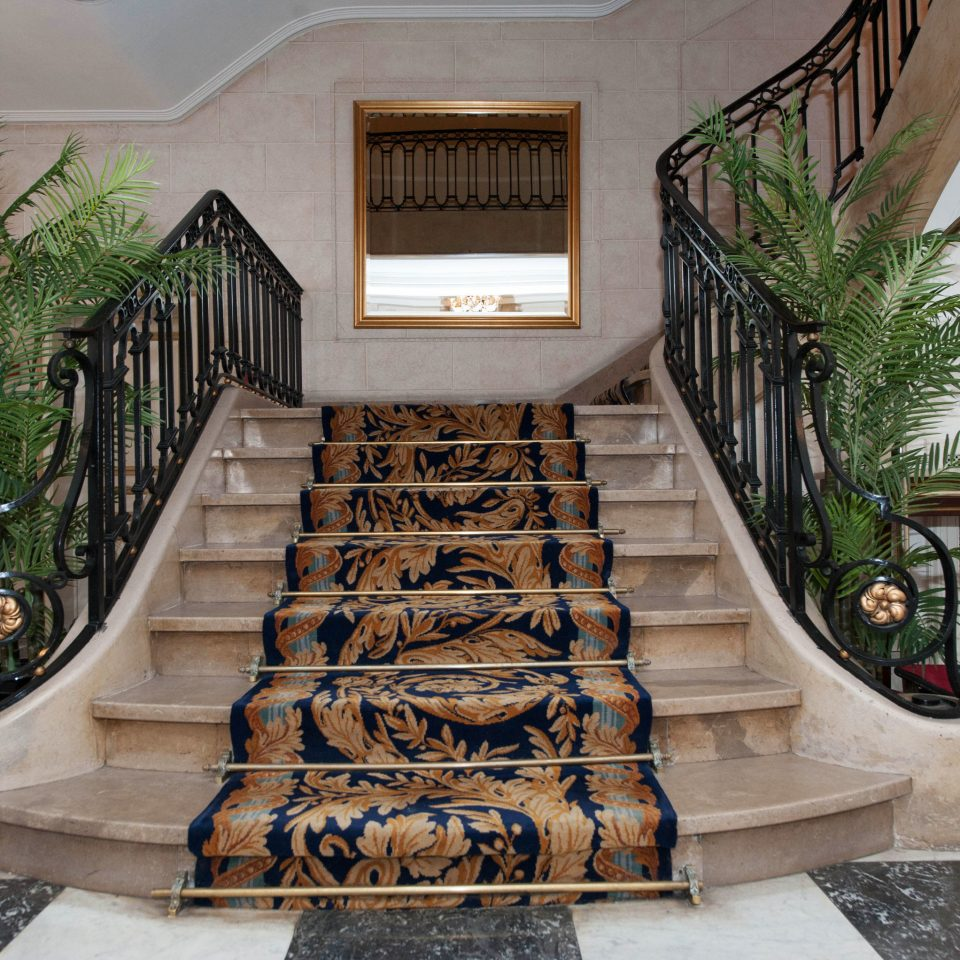 ground stairs home Lobby mansion plant Courtyard baluster flooring stone