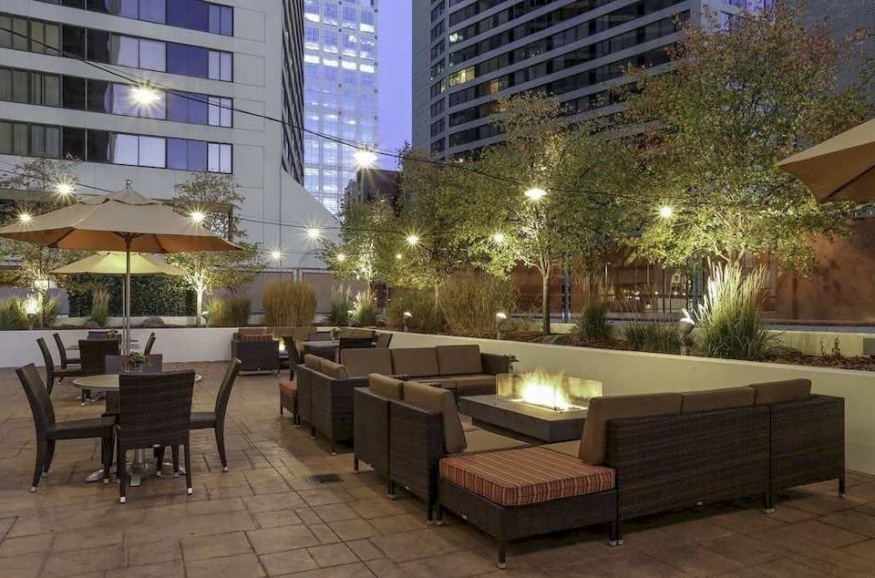 property condominium plaza building Lobby lighting Courtyard park outdoor structure empty