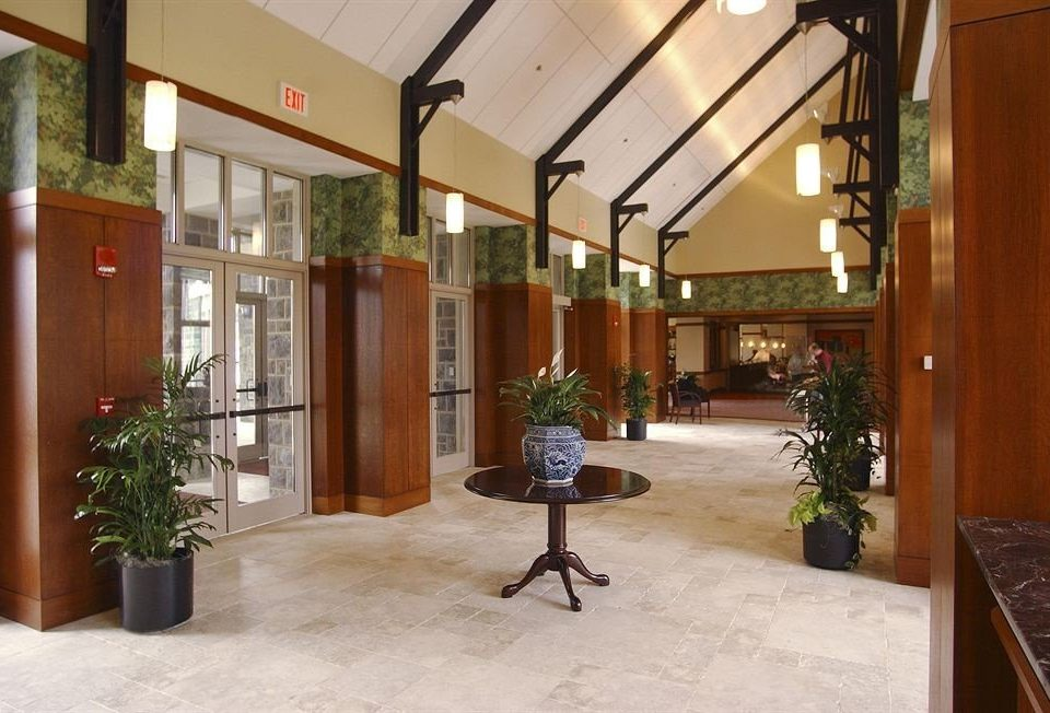 Lobby property building home house Courtyard condominium plant