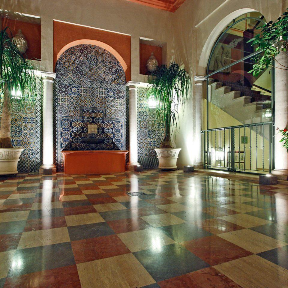 building Lobby property flooring hardwood home wood flooring mansion Courtyard rug tiled