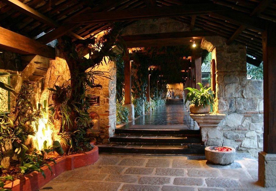building Lobby stone restaurant hacienda Courtyard