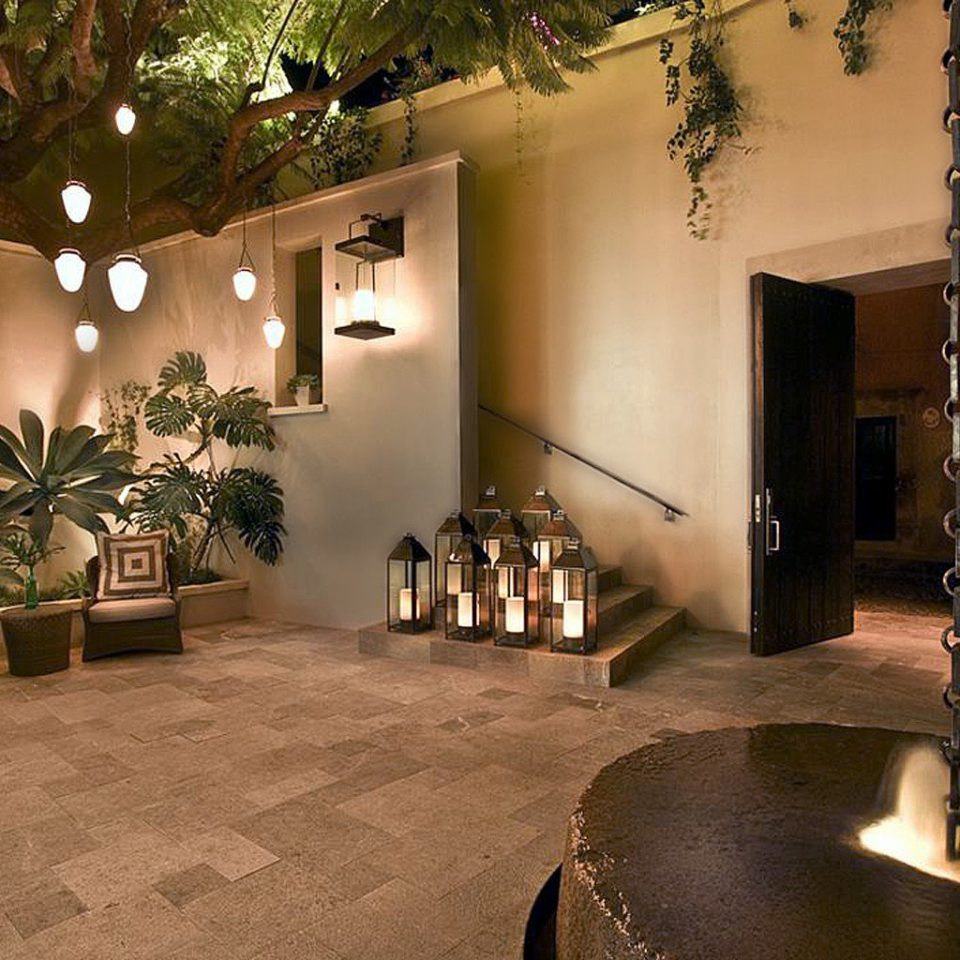 Luxury Patio Romance Romantic property Lobby house home lighting living room mansion Courtyard Villa hacienda tourist attraction